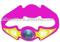 2012 fashionable-style sport health rubber wristbands in hologram paypal-available 100%silicone