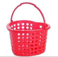 Anglo heart-shaped drain basket / shower basket / fruit basket - Red (A616-1)