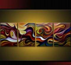 Fashion handmade abstract oil painting frameless OIL0002