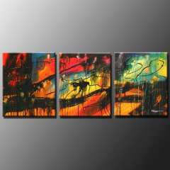 Fashion handmade abstract oil painting frameless OIL0042