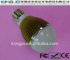 Gold -plated E26 5w led lamp with CE\FCC\ROHS