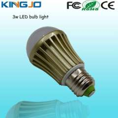Elegent style 3w led bulb with glod clothes
