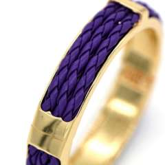 four color Leather cord weaving design fashion Jewelry 18K Real Gold Plated Bangles For Women\ Men Gorgeous Bracelets BR70030