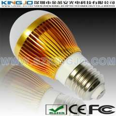 Golden Color 3W LED Light Bulb With E27 Base