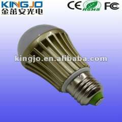 3 years warranty energy saving 3W bulb led light with Golden heat sink