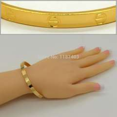 High Quality Brand Bracelets Fashion Jewelry 24k Real Gold Plated Classic Design Trendy Unisex Bracelets & Bangles br70007