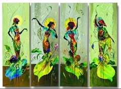 Fashion handmade abstract oil painting frameless OIL0040