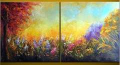 Fashion handmade abstract oil painting frameless OIL0098
