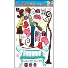 Lido large home fashion wall stickers - Sweet Kiss (HL5622)
