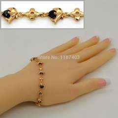Lovely dolphins AAA+ Swiss Cubic Zirconia Bracelet & Bangles Trendy 18K Gold Plated Jewelry gift For Wome or men B40020
