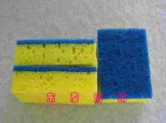 Supply clean sponge scouring pad, scrub clean composite sponge, cleaning sponge color furniture