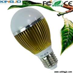 Gold -clothes 5W LED light bulb with high power E27 base
