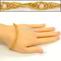 New unique woman & Men bracelet\Bangle jewelry 18K Real Gold Plated Trendy bracelet link chain Luxury jewelry gift B40132