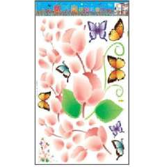 Lido large home fashion wall stickers - butterfly flower vine (HL5602)