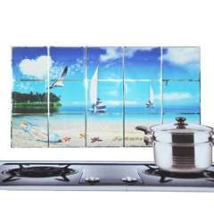 Kitchen with aluminum foil high-temperature oil sticker - petal - sailing yacht