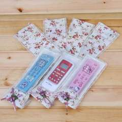Fabric lace tv air conditioning remote control cover mona flower