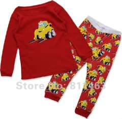 children long sleeve red pajamas #JC-681 \kids cartoon clothes \ children's wear \ free shipping