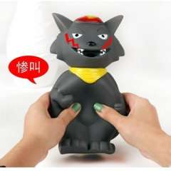 Big gray wolf funny toys