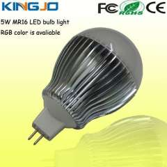 RGB colors 5w MR16 led bulb dimmble is available
