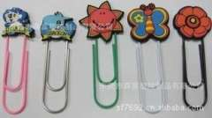 Strange new style fashion silicone cute cartoon animal shaped PVC paper clips, paper clips bookmarks environmental protection