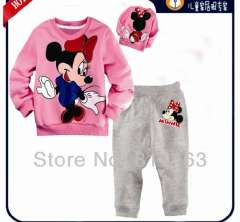 girl cute mickey long sleeve clothering set #XC-117\ kids cartoon wear \ wholesale & retail \ free shipping