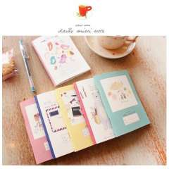 Stationery notepad yno-6001 daily mini note stitch book