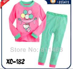 best gift for girl \ baby long sleeve hello kitty pajamas #XC-182\ wholesale & retail