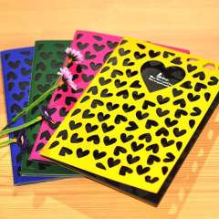 Korea stationery love cutout tsmip notebook notepad doodle book black cardboard diary