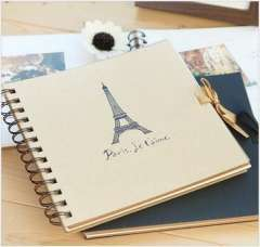 Derlook stationery vintage photo album collection book of classical ribbon card corner posts