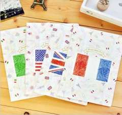Stationery b5 stitch book tsmip big horizontal stripe book exercise book notebook