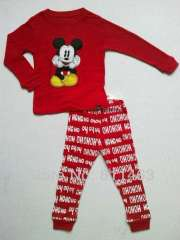 children red long sleeve mickey cotton pajamas #C-118 \ baby popular wear \ wholesale & retail \ free shipping