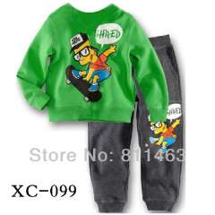 baby cartoon wear #XC-099 \ kids cotton pajamas long sleeve \ size 2Y to 7Y \ free shipping