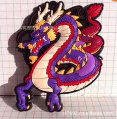 Chinese dragon fridge magnets | soft PVC fridge magnet | Tiananmen refrigerator | Silicone environmentally friendly materials to build a large number of