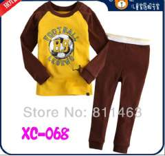 children long sleeve cute FOOTBALL LEGEND cotton pajamas # XC-068 \ wholesale & retail \ free shipping