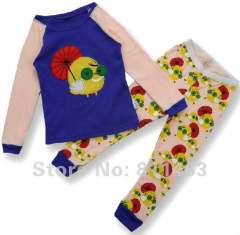 Wholsale \ kids long sleeve cartoon clothering set #C-046 \ baby cotton pajamas \ free shipping