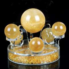 Natural yellow crystal seven array decoration superacids crafts lucky crystal ball decoration 2206