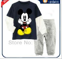 children boys long sleeve mickey mouse pajamas #CA-010\ kids clothing set \ baby homewear