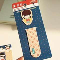 Novelty small gift muzi magnetic bookmark refrigerator stickers
