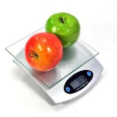 Square glass electronic kitchen scale / electronic scale with Tare function ( 807 )
