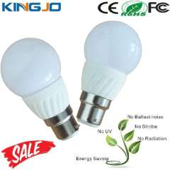 High Lumens E27 B22 3W Light Led Bulbs With Milk PC Cover
