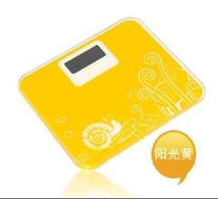 Electronic scales / lady health scale - sunshine yellow