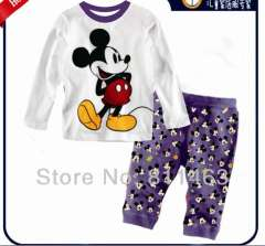Baby cute cartoon mickey mouse long sleeve cotton pajamas #XC-082 \ top quality kids wear \ wholesale & retail \ free shipping