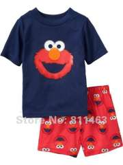 kids short sleeve cotton pajamas #L-034 \ baby summer wear \ free shipping