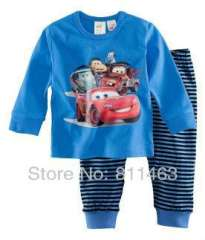 2012 newest boy's long sleeve nice car cotton pajams #XC-119 \ wholesale & retail \ free shipping