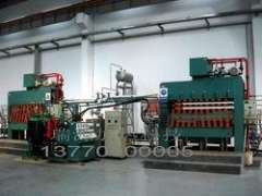 Thermal oil heating furnace for compressor