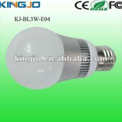 3W bulb led with good heat dissipation and 2 years warranty