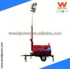 10KW Water-cooled Diesel Engine Tower Light Generator