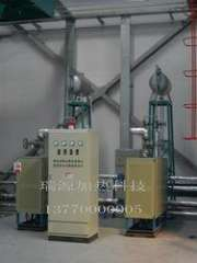 Conduction oil furnace for the petrochemical industry