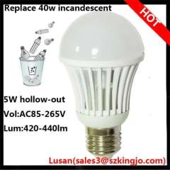 Samsung 5630 smd led bulb e27 5w hollow-out led lamp