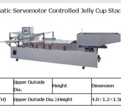 SP-GD Automatic Servomotor Controlled Jelly Cup Stacking Machine